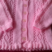 Little Girls Round Neck Cardigan