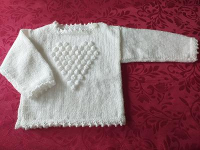 "HAND KNITTED  GIRLS JUMPER SIZE 18"" (ref WW1)"