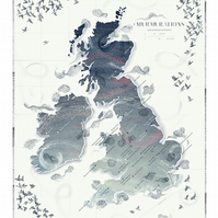 Murmurations of Great Britain and Ireland Map
