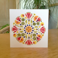Fruit Salad Mandala Card Pack