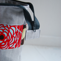 Handmade pure cotton toiletries bag