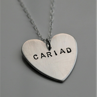 Sterling Silver Heart Pendant  - can be personalised