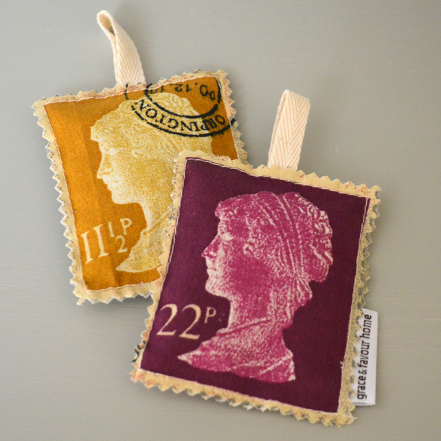 Postage Stamp Lavender Bag