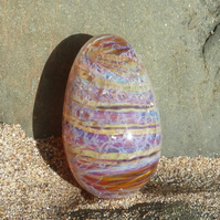 Dragon egg - solid borosilicate glass - handmade in West Wales