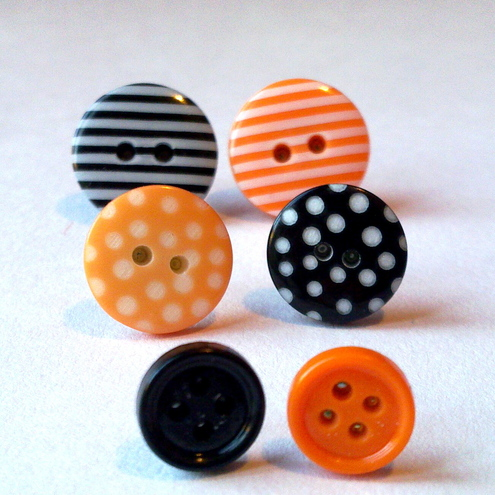 Halloween Button Earrings