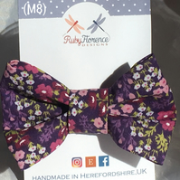 Beautiful fabric medium Bow hair clip M5