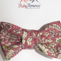Beautiful Small Fabric Bow Hair Clip (s10)