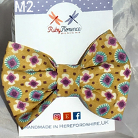 Beautiful Medium Fabric Bow Hair Clip M2