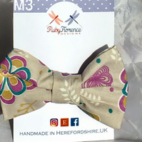 Beautiful Medium Fabric Bow Hair Clip M3