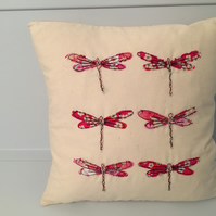 "Liberty of London Dragonfly Cushion 12"" inc feather pad"