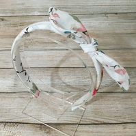 Fabric Headband featuring Cath Kidston Fabric White floral