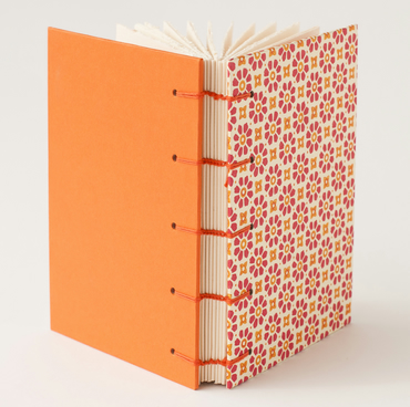 Orange Flower Power Notebook