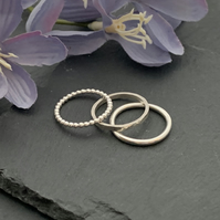Set of Stirling Silver Stacking rings