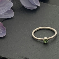 Sterling silver and Swarovksi stacking ring - Erinite