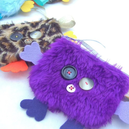 Purple Coin Cuddle Purse