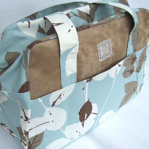 Duck Egg Blue Overnight Bag