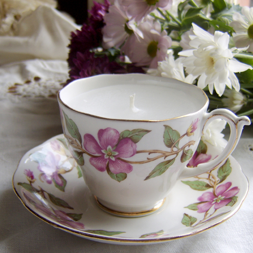 Roslyn Vintage Cup Candle RP052
