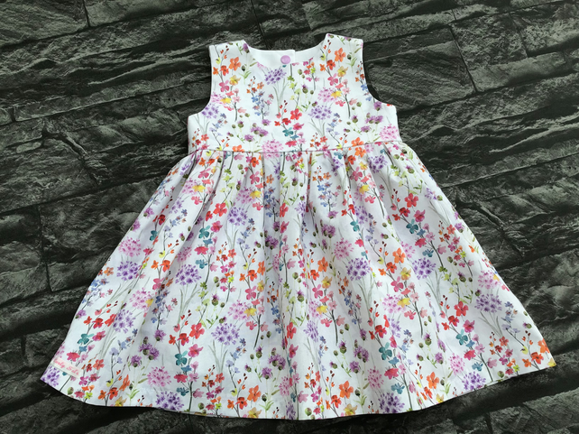Girls Spring Flower Sleeveless Dress