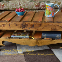 RUSTIC RECLAIMED WOOD COFFEE TABLE HANDCRAFTED TO ORDER