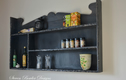Rustic Reclaimed Wood Kitchen Shelving Unit