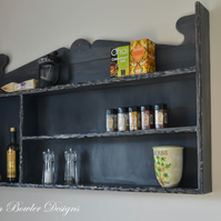 Handcrafted to Order Rustic Farmhouse Style Reclaimed Wood Kitchen Shelving Unit