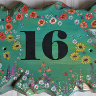 FREE UK SHIPPING Handcrafted to Order Rustic Reclaimed Wood House Number