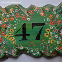 FREE UK SHIPPING RUSTIC RECLAIMED WOOD HOUSE NUMBER SIGN