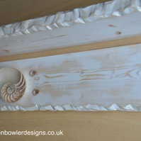 One 3 ft Rustic Reclaimed Wood White Nautical Style Bespoke Floating Shelf
