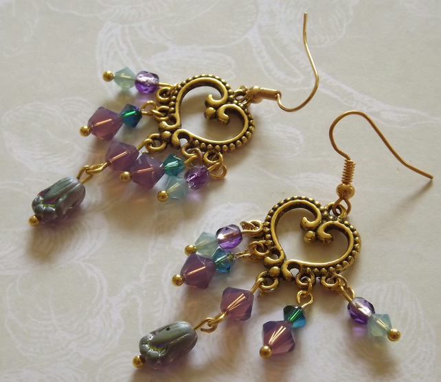 Crystal Chandelier earrings,