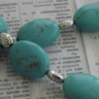 Every Cowgirl, turquoise and silver necklace and earring set