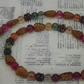 Autumn Berries, semi precious stones and glass beaded necklace and earring set