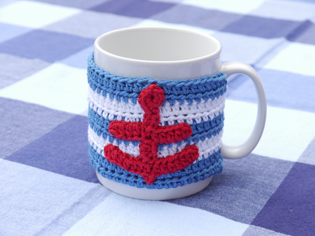Nautical Anchor Mug Cosy