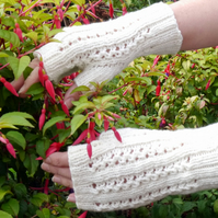 Fingerless Gloves Cream