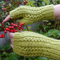 Fingerless Gloves Green