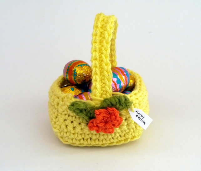 Mini Easter Basket Yellow