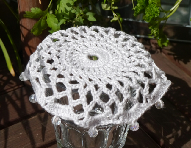 Crochet Beaded Jug Cover