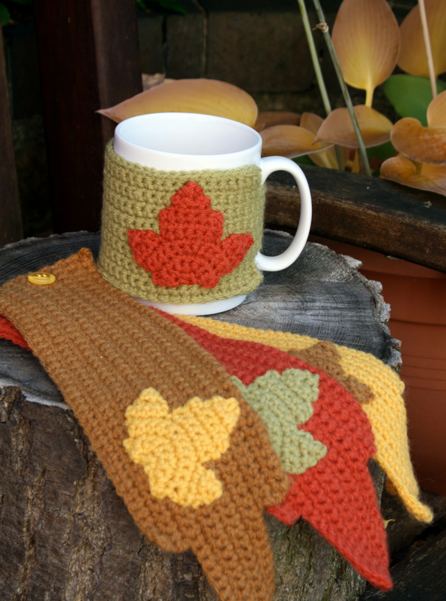 Autumn Mug Cosies Set of Four