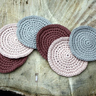 Crochet Coasters Set of Six