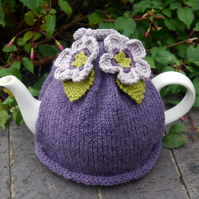 Tea Cosy Purple Flowers
