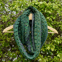 Green Scarf Crochet