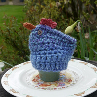 Easter Egg Cosy Blue Chicken