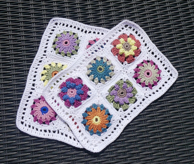 Crochet Table Mats Set of Two
