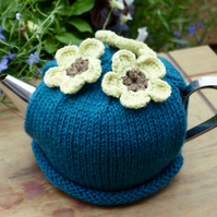 Flower Tea Cosy Teal