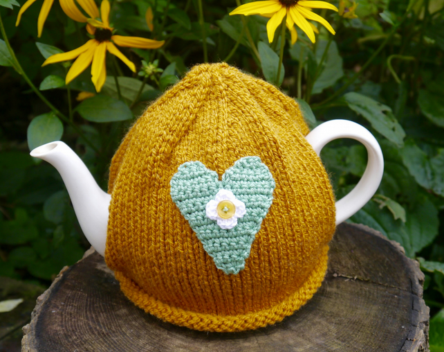 Heart Tea Cosy, Teacosy, Teapot Cozy