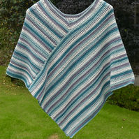 Cotton Striped Poncho