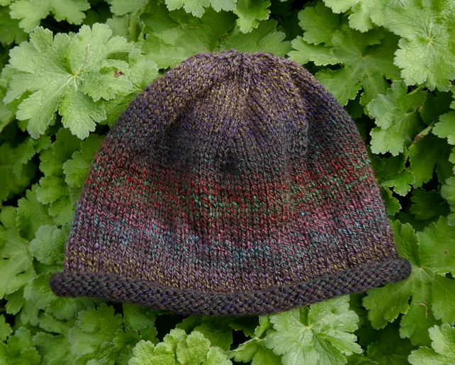SALE - Brown Marble Beanie Hat, Three Sizes Available