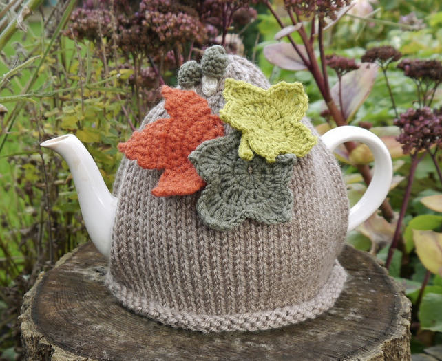 Woodland Tea Cosy Leaves and Toadstools