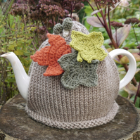 Tea Cosy Leaves and Toadstools