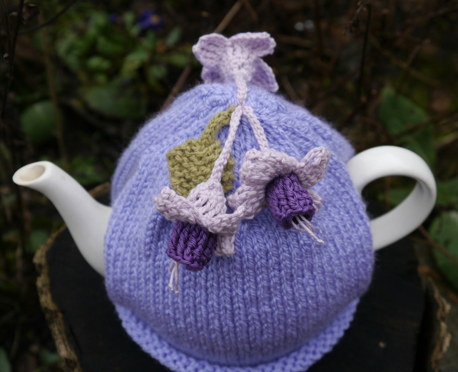 Fuchsia Flower Tea Cosy, Lilac Teacozy