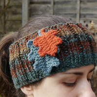 Oak Leaf Headband Ear Warmer